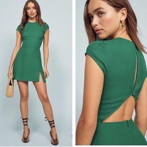 NWT Reformation Lena Serpentine Green Mini Dress